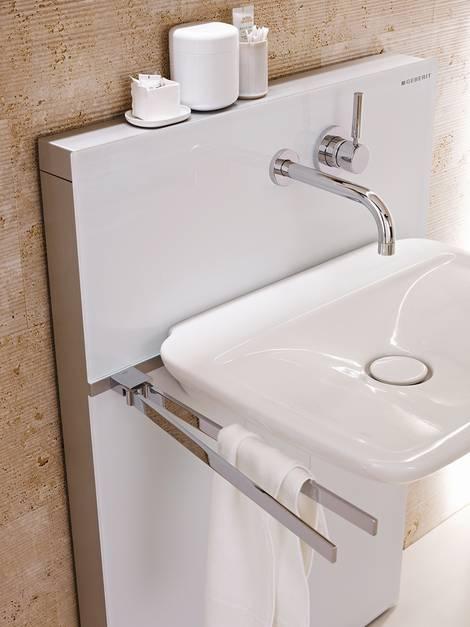 Bad renovieren, Badrenovierung, Badsanierung, Badezimmer modernisieren, Vorwandinstallation, Waschbecken, Foto: tdx/Geberit