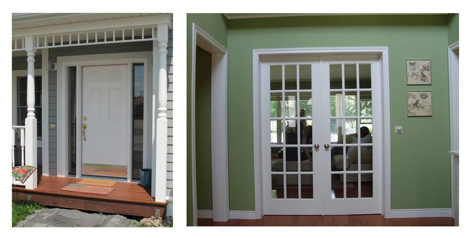 Amerikanische Häuser, Haustür, Eingangtür, Flügeltür, Foto: BostonHaus