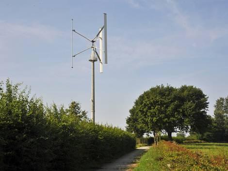 Windenergie, Kleinwindanlage, vertikale Achse, Foto: EnergieAgentur.NRW