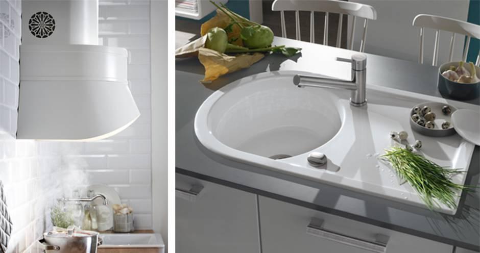 Küche verschönern, Küchenarbeitsplatte tauschen, Dunstabzugshaube, Einbauspüle, Foto: Inter IKEA Systems B.V. / tdx/Villeroy & Boch
