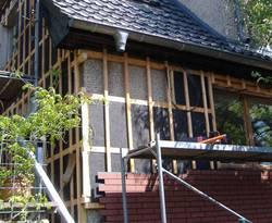 VHF, Aufbau vorgehängte hinterlüftete Fassade, Klinker