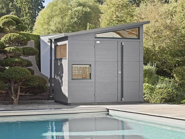 Gartenhaus, Gartenhaus Holz, futuristisch, Foto: Gartana Gartenhaus