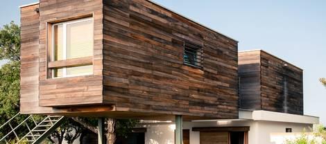 Fassadenvarianten, Holz, Putz, modernes Haus, Foto: photovideostock / iStock