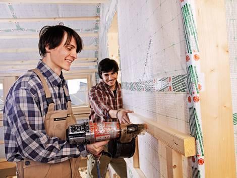 OSB-Platten, Holzwerkstoffplatten, Konterlattung, Hinterlüftung, Foto: Ingo Bartussek - fotolia.com