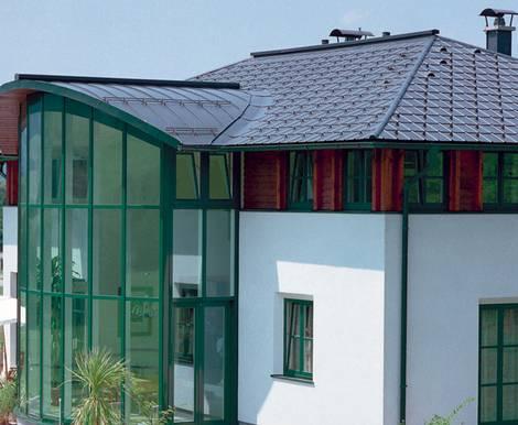 Aluminiumdach, Foto: PREFA GmbH