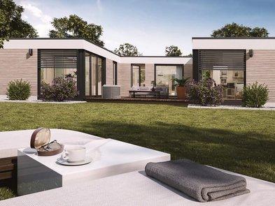 Modulhaus, Bungalow aus Hausmodulen, Foto: Onoxo Home