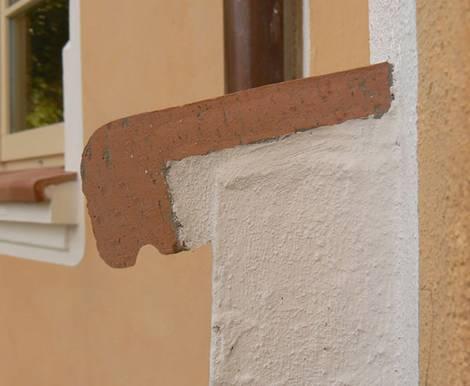 Fensterbank, außen, Ton, Gefälle, Regen, Nuteinlassung, Foto: Rimini Baustoffe GmbH