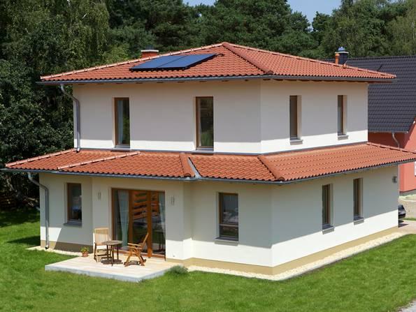 mediterrane Häuser, Dachform, Zeltdach, Foto: Wienerberger/Poroton