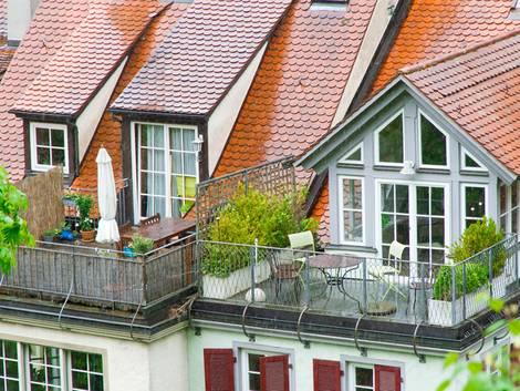 Dachloggia, Dachterrasse, Foto: Jürgen Fälchle - Fotolia.com