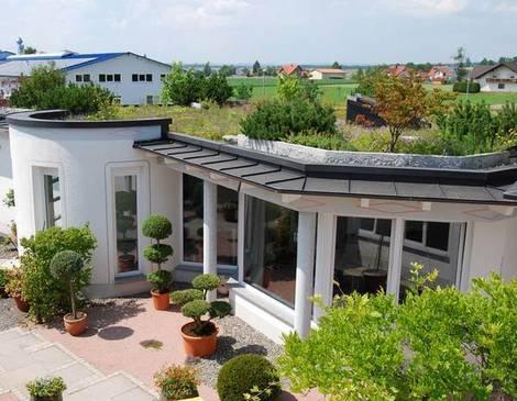 intensive Dachbegrünung, Foto: Optigrün