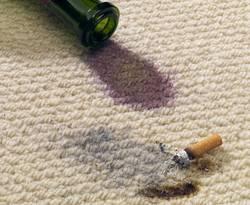 Teppich reparieren, Teppich ausbessern, Fleck im Teppich