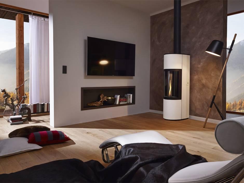 Pelletofen, Wohnzimmer, Foto: Cera Design