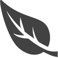 Pelletheizung, Blatt, umweltbewusst heizen, Icon: Piktochart