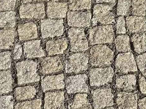 Terrasse pflastern, Pflastersteine verlegen, Naturstein, Granit, Foto: Steffen Malyszczyk