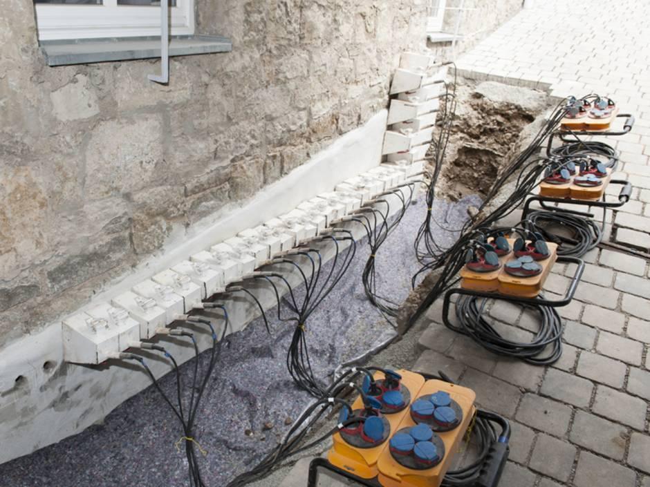 Bautrocknung, Injektionsverfahren, Außenaufnahme, Foto: ISOTEC GmbH
