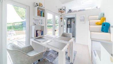 mobiles Haus, Innenaufnahme eines Tiny Houses, Foto: Tiny House Diekmann