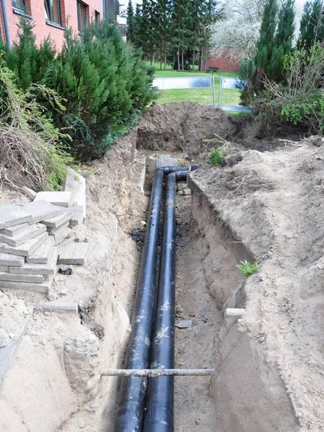 Kaltwasserleitung verlegen, Hausanschluss, Wasseranschluss, Foto: Marco2811 - Fotolia.com