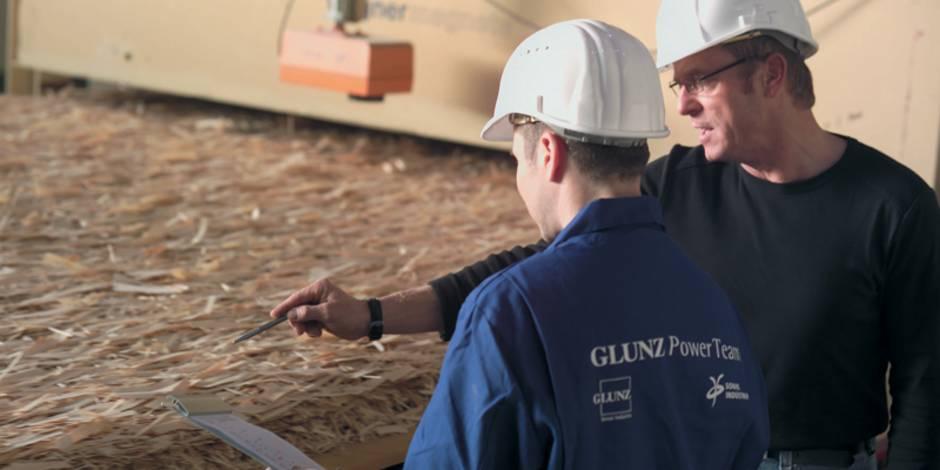 OSB-Platten, Holzwerkstoffplatten, Produktion, Herstellung, oriented straned board, Foto: Glunz AG
