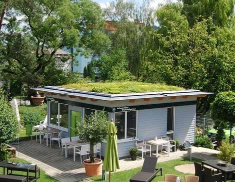 Dach, Dachbegrünung, Kiosk, Foto: Optigrün/www.dachbegruenung24.de