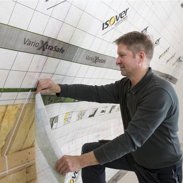 Zwischensparrendämmung, Dachdämmung, Foto: SAINT-GOBAIN ISOVER G+H AG