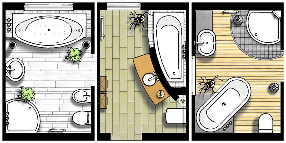 kleine Bäder, Grundrisse, Badgestaltung, Bäder mit Badewanne, Foto: SHK / 100-baeder.de