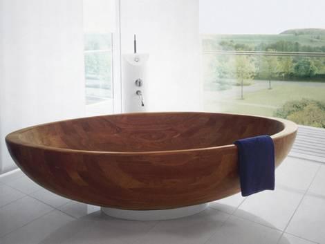 Badewanne, Material, Holz, Holzwanne. Foto: Top Impex