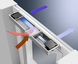 integrierte, Fensterlüftung, Fenster, Lüftung, Foto: Schüco International KG