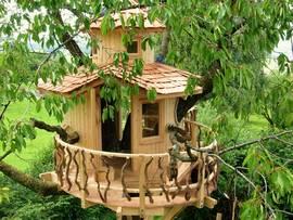 Baumhaus Kirsche, Baumhaus Aussichtsturm , Baumhaus Kinder, Baumhäuser, Foto: Baumleben