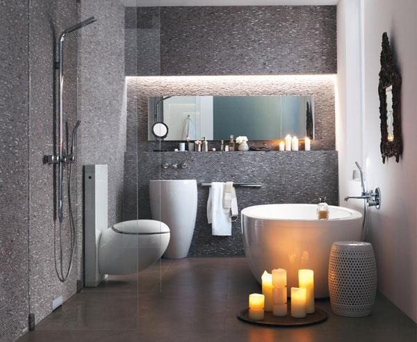 Delightful Die Beleuchtung In Einem Badezimmer ...