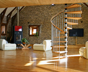 wendeltreppe stufenweise aufw rts. Black Bedroom Furniture Sets. Home Design Ideas