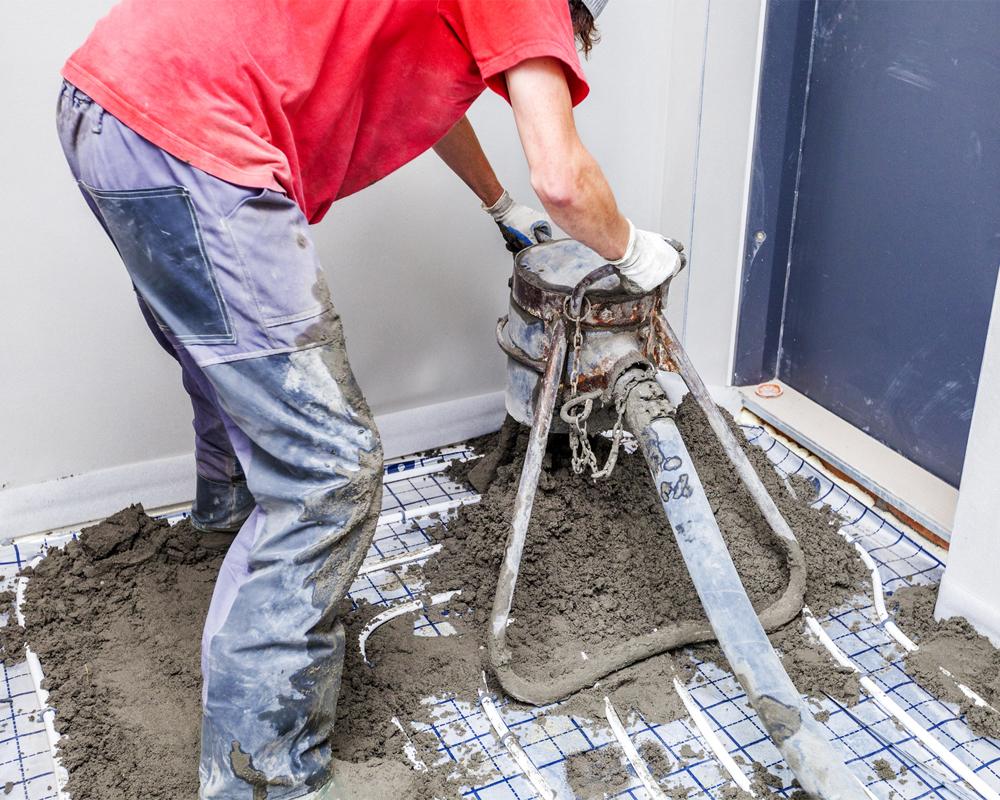 Fußboden Dämmen Aufbau ~ Estrichaufbau verschiedene möglichkeiten gleicher zweck bauen