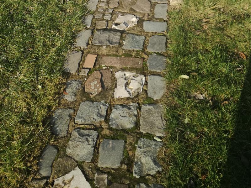 Elegant Dieser Weg Ist Aus Verschiedenen Steinarten Zusammengesetzt. Nicht  Unbedingt Einfach Zu Verlegen, Kann Am Ende Aber Ein Schönes Bild Ergeben.