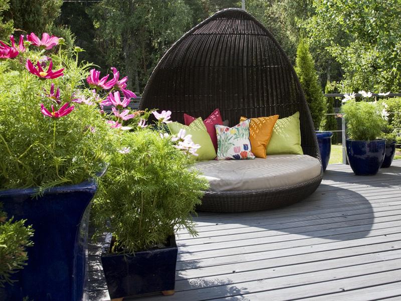 Kleiner garten gro e wirkung for Gartengestaltung sitzecke sichtschutz