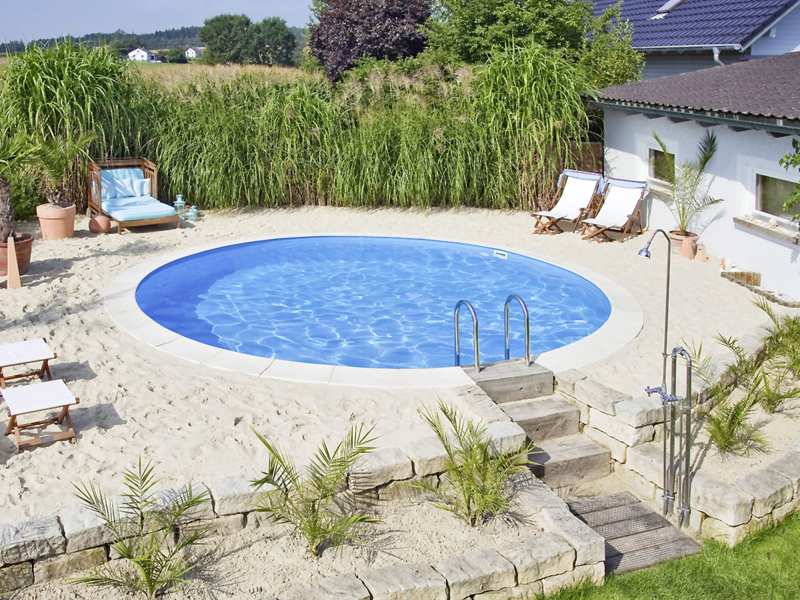 pool selber bauen swimmingpool im garten. Black Bedroom Furniture Sets. Home Design Ideas