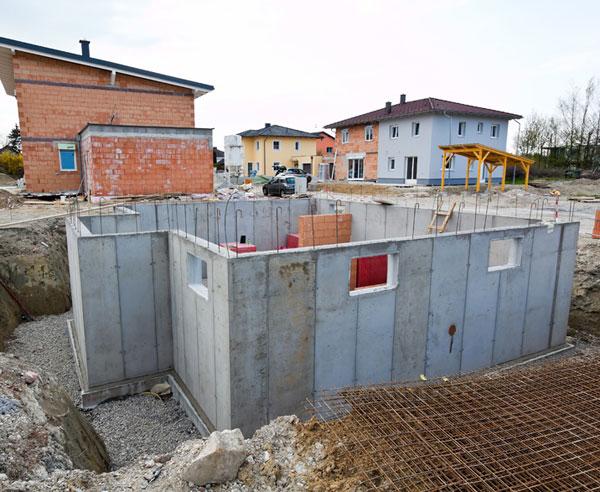 kellerbau aus stein oder beton bauende