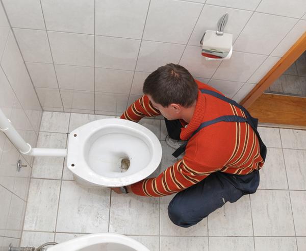 SET Stand-WC Spülkasten WC-Sitz Befestigung ABGANG INNEN SENKRECHT