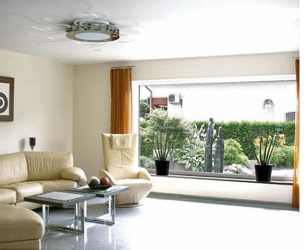 Wohnzimmer neu gestalten mit Spanndecken - bauen.de